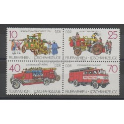 East Germany (GDR) - 1987- Nb 2722/2725 - Firemen