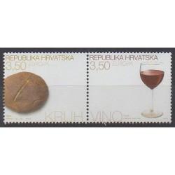 Croatia - 2005 - Nb 673/674 - Gastronomy - Europa