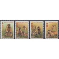 Mongolia - 2000 - Nb 2520/2523 - Mamals