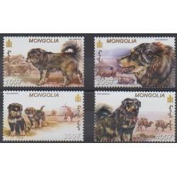 Mongolia - 2001 - Nb 2613/2616 - Dogs