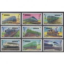Mongolia - 1997 - Nb 2132/2140 - Trains