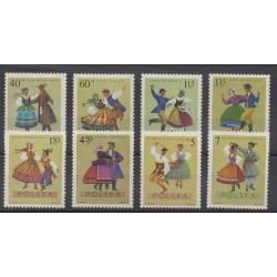 Poland - 1969 - Nb 1801/1808 - Folklore
