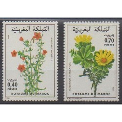 Morocco - 1981 - Nb 880/881 - Flowers