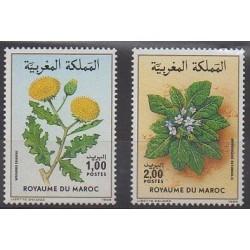 Morocco - 1986 - Nb 1008/1009 - Flowers