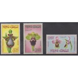 Maroc - 1965 - No 494/496 - Orchidées