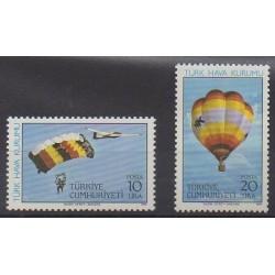 Turkey - 1985 - Nb 2458/2459 - Hot-air balloons - Airships