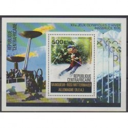 Central African Republic - 1976 - Nb BF11 - Winter Olympics