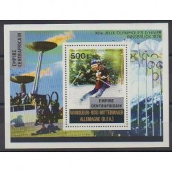 Central African Republic - 1976 - Nb BF17 - Winter Olympics