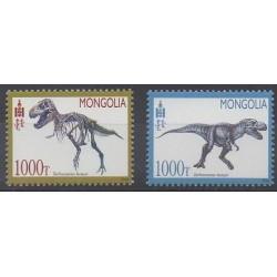 Mongolia - 2014 - Nb 2997/2998 - Prehistoric animals
