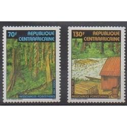 Centrafricaine (République) - 1984 - No 634/635 - Arbres
