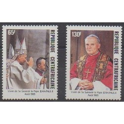 Central African Republic - 1985 - Nb 683/684 - Pope