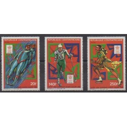 Central African Republic - 1987 - Nb 768/770 - Winter Olympics