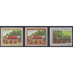 Centrafricaine (République) - 1988 - No 791A/791C - Arbres