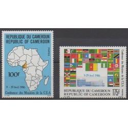 Cameroon - 1986 - Nb 789/790 - Various Historics Themes