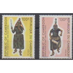 Cameroon - 1986 - Nb 799/800 - Masks or carnaval - Costumes - Uniforms - Fashion