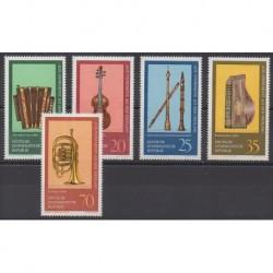 Allemagne orientale (RDA) - 1977 - No 1900/1904 - Musique