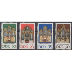 Allemagne orientale (RDA) - 1976 - No 1790/1793 - Musique