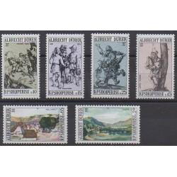 Albania - 1971 - Nb 1298/1303 - Paintings