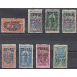 Tchad - 1925 - No 37/44 - Neufs avec charnière
