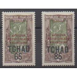 Chad - 1925 - Nb 45/46 - Mint hinged