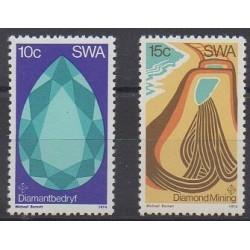 Sud-Ouest africain - 1974 - No 344/345 - Minéraux - Pierres précieuses