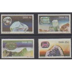 Sud-Ouest africain - 1979 - No 419/422 - Minéraux - Pierres précieuses