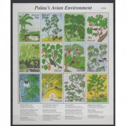 Palau - 1997 - Nb 1038/1049 - Birds - Trees - Fruits or vegetables