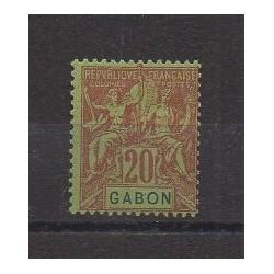 Gabon - 1904 - No 22 - Neuf avec charnière