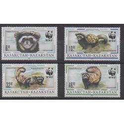 Kazakhstan - 1997 - Nb 124/127 - Mamals - Endangered species - WWF