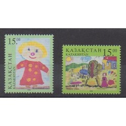 Kazakhstan - 1998 - Nb 172/173 - Children's drawings