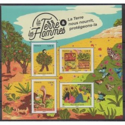 France - Blocks and sheets - 2021 - Nb BF La Terre et les Hommes - Environment - Fruits or vegetables
