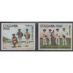 Colombie - 1980 - No 772/773 - Musique - Folklore