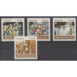 Brésil - 1983 - No 1584/1587 - Masques ou carnaval