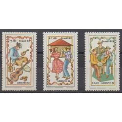 Brésil - 1982 - No 1561/1563 - Musique - Philatélie