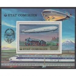 Comoros - 1977 - Nb BF8 - Hot-air balloons - Airships - Trains