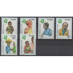 Zaire - 1979 - Nb 951/956 - Childhood