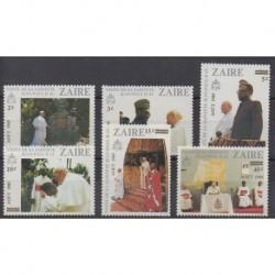 Zaire - 1985 - Nb 1202/1207 - Pope