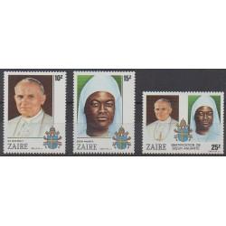 Zaire - 1986 - Nb 1235/1237 - Pope