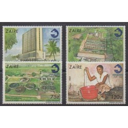 Zaïre - 1990 - No 1255/1258