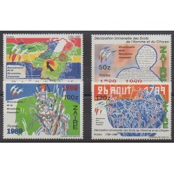 Zaire - 1990 - Nb 1251/1254 - French Revolution - Human Rights
