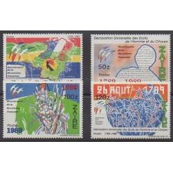 Zaïre - 1990 - No 1251/1254 - Révolution Française - Droits de l'Homme