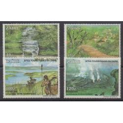 Zaire - 1990 - Nb 1315/1318 - Tourism