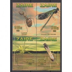 Zaire - 1996 - Nb 1435/1438 - Insects