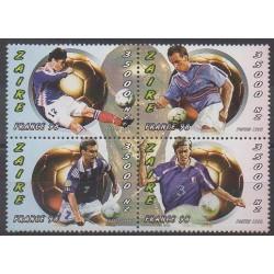Zaïre - 1997 - No 1483/1486 - Coupe du monde de football