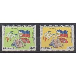 Philippines - 1989 - Nb 1693/1694 - French Revolution