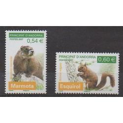Andorre - 2007 - No 634/635 - Mammifères