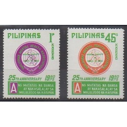 Philippines - 1975 - Nb 968/969 - Health or Red cross