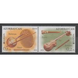 Azerbaïdjan - 2014 - No 862a/863a - Musique