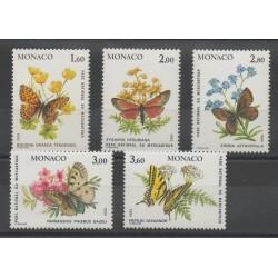 Monaco - 1984 - No 1420/1424 - Papillons