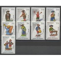 Monaco - 1984 - Nb 1437/1445 - Christmas
